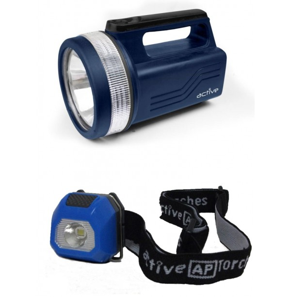 A50923 - A55966 BUNDLE *** SPECIAL *** 118 LUMENS SPOTLIGHT AND 20 LUMENS MINI HEADTORCH BUNDLE