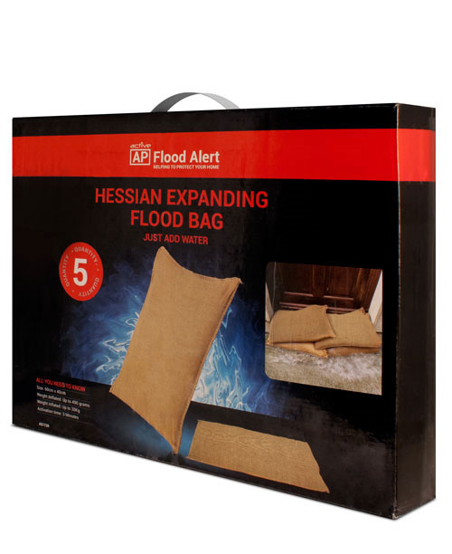 A51739 HESSIAN EXPANDING FLOOD BAG                                                                                                                                                                                         (2 PACK OF 5 BAGS)