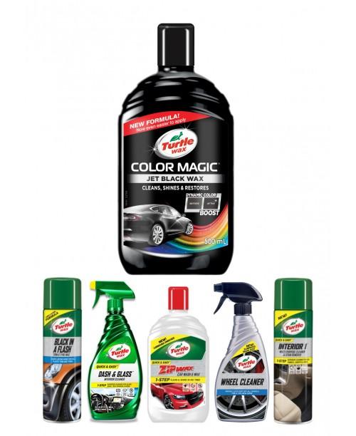 COLOR MAGIC JET BLACK WAX CAR CARE KIT