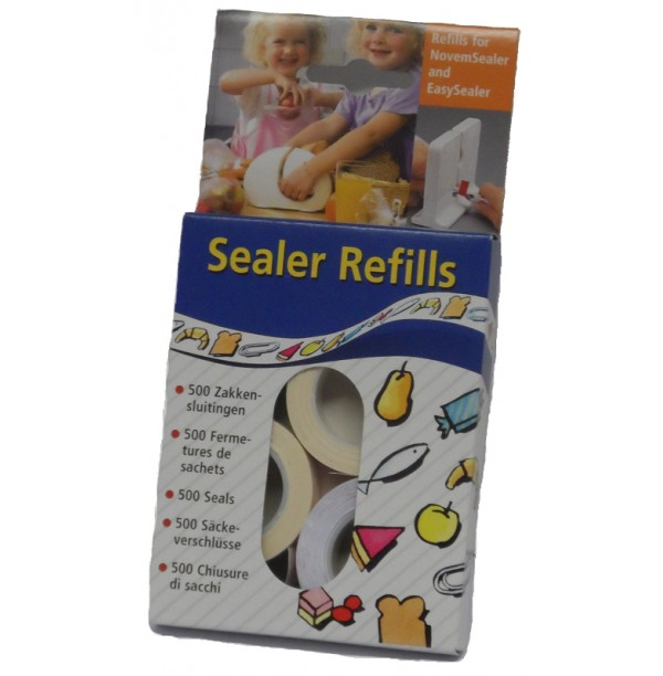 REFILLS FOR NOVEMSEALER AND EASYSEALER  (PACK OF 5 BOXES, 2500 SEALS)