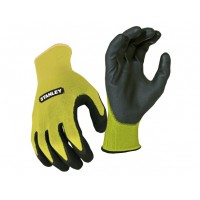 STANLEY HI VIZ KNITTED GRIPPER GLOVE (TRIPLE PACK)