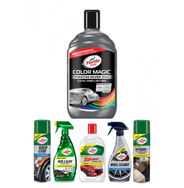 COLOR MAGIC PRESTIGE SILVER WAX CAR CARE KIT