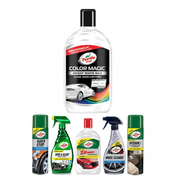 COLOR MAGIC BRIGHT WHITE WAX CAR CARE KIT