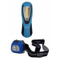 *** SPECIAL *** MINI HEADTORCH & HAND INSPECTION LIGHT BUNDLE