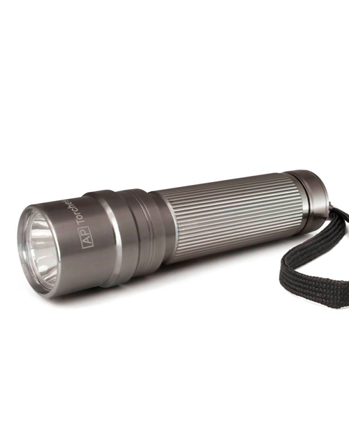 A50893 55 LUMENS ANODIZED ALUMINIUM TORCH  ***SPECIAL. 2 FOR £16.99 INC DELIVERY***