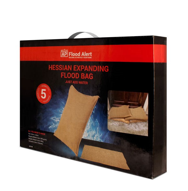 A51739 HESSIAN EXPANDING FLOOD BAG                                                                                                                                                                                        ***OFFER -  (3 PACKS) for £15.00***