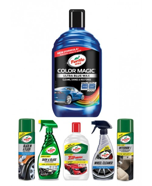 COLOR MAGIC ULTRA BLUE WAX CAR CARE KIT
