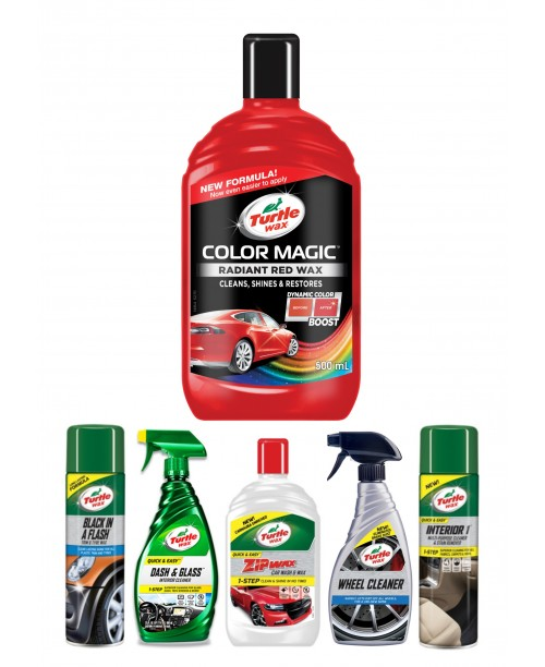 COLOR MAGIC RADIANT RED WAX CAR CARE KIT