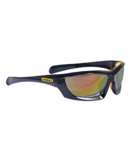 STANLEY BASE CURVE SILVER MIRROR SAFETY GLASSES (TWIN PACK)